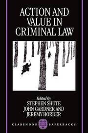 Action and Value in Criminal Law image