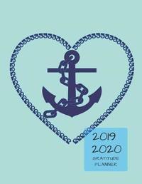 2019 2020 15 Months Anchor Navy Gratitude Journal Daily Planner by Zenwerkz