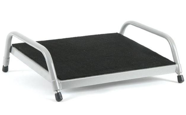 Fluteline Footrest Small Black Carpet - Silver Elite Frame
