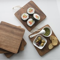 Set of 6 Mini Acacia Serving Boards (Square)