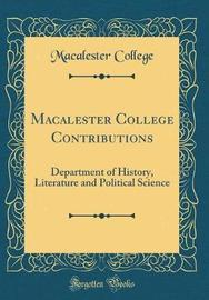 Macalester College Contributions by Macalester College