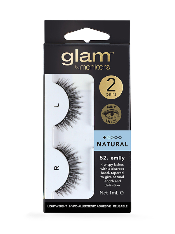 Glam by Manicare: Natural Mink Effect Lashes - Emily (2 Pack)
