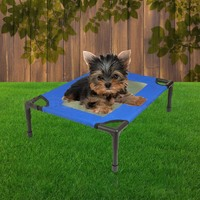 Ape Basics: Elevated Foldable Portable Pet Dog Bed - Small
