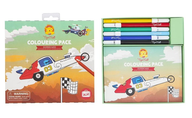 Tiger Tribe: Colouring Pack (Supercars)