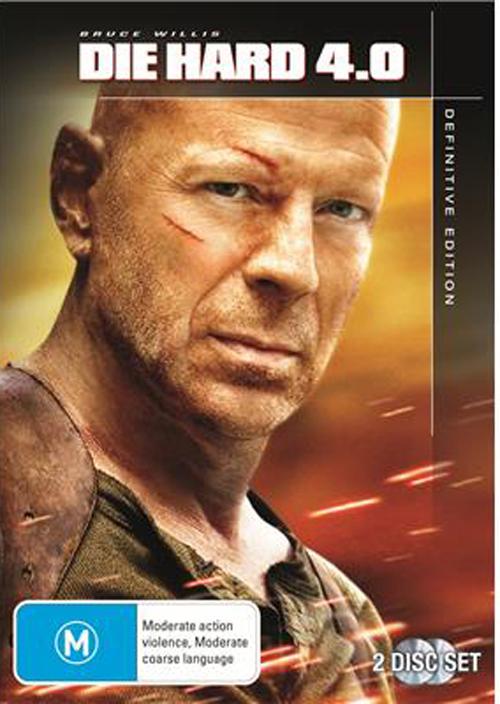 Die Hard 4.0 on DVD