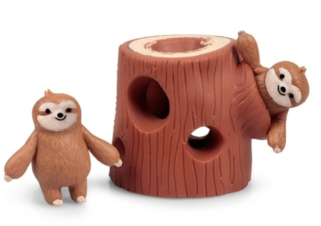 Stretchy Sloth - Tree Stump Set