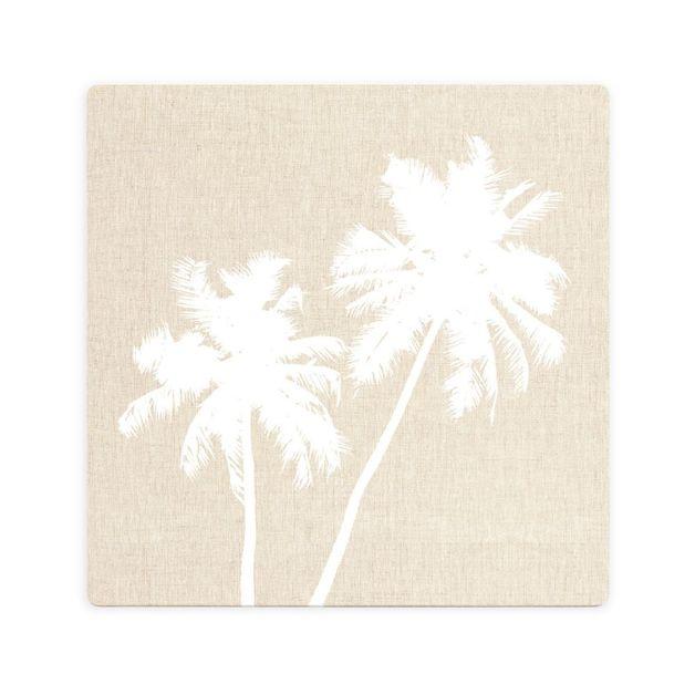 Splosh: Tranquil Beige Palms Ceramic Coaster