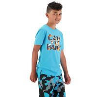 Canterbury: Boys Camo Print Short - Scuba Blue (Size 14)
