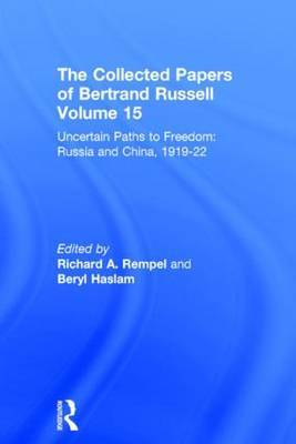 The Collected Papers of Bertrand Russell, Volume 15