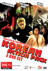 Korean Action Pack (Bichunmoo / Volcano High / Musa - The Warrior) (3 Disc Box Set) on DVD