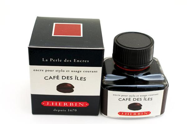 J Herbin: Fountain Pen Ink - Cafe de Iles (30ml)