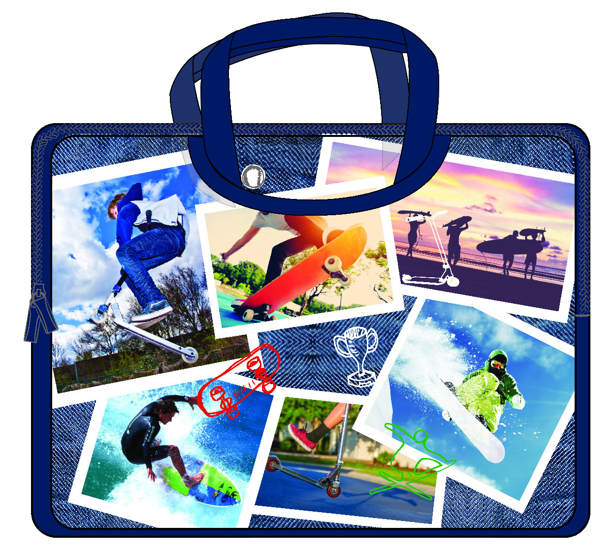 Spencil: Sports Collage Device Case image