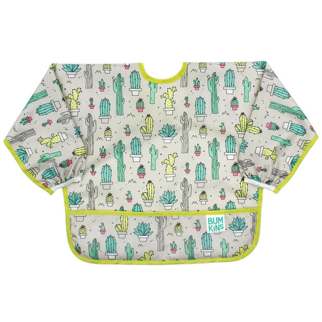Bumkins: Waterproof Sleeved Bib - Cacti