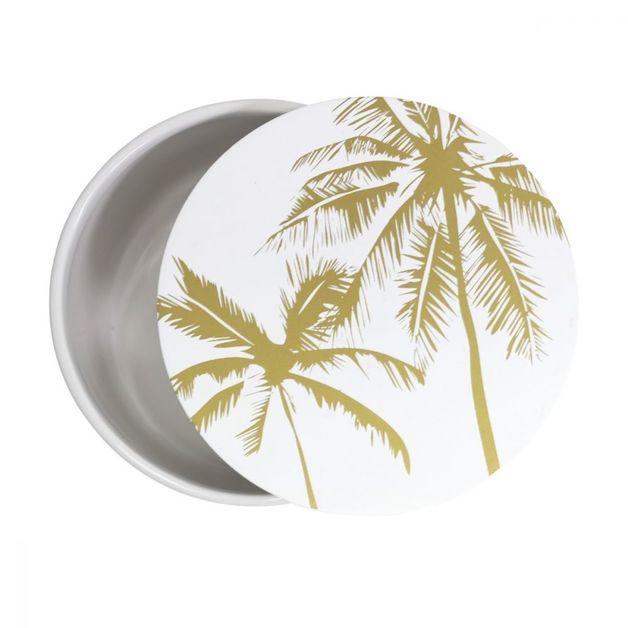 Splosh: Tranquil Palm Medium Round Trinket Box