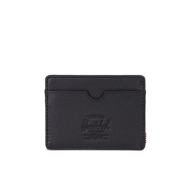Herschel Supply Co: Charlie Leather RFID - Black Pebbled Leather