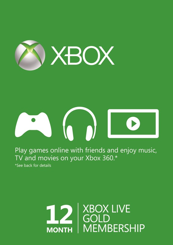 Xbox LIVE 12 Month Gold Membership Card for