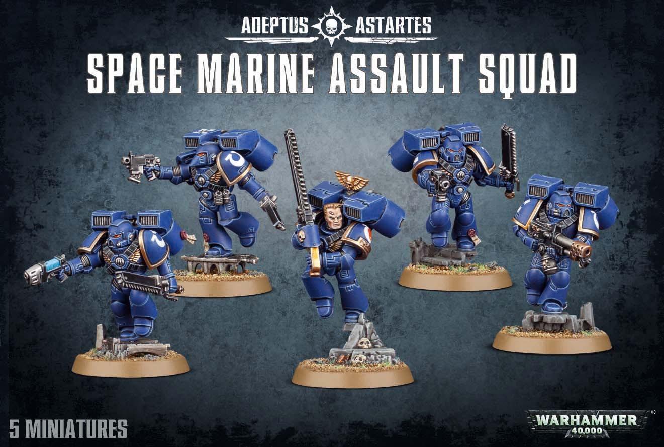 Warhammer 40,000 Space Marine Assault Squad image