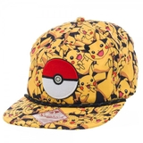 Pokemon Pikachu All Over Print Cap