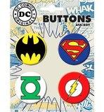 DC Comics Hero Symbols Set of 4 Buttons