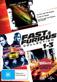 The Fast And Furious 1 - 3 on DVD