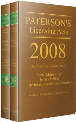 Paterson's Licensing Acts 2008