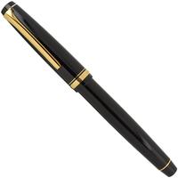 Pilot Falcon Resin Gold Black Fountain Pen - Medium