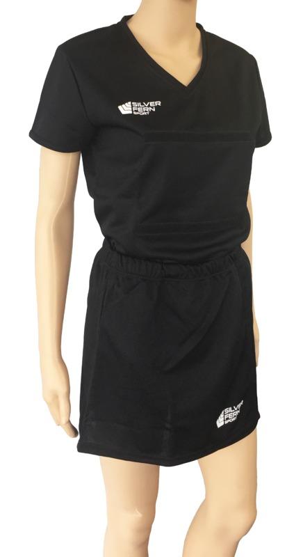 Silver Fern: Netball Skirt - XL (Black)