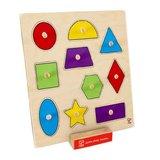Hape: Geometric Shapes Knob Puzzle