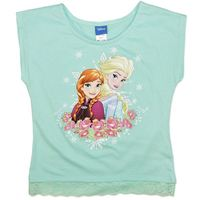 Disney Frozen Mint T-Shirt (Size 7)