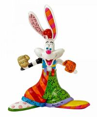 Romero Britto: Roger Rabbit Figurine - Medium