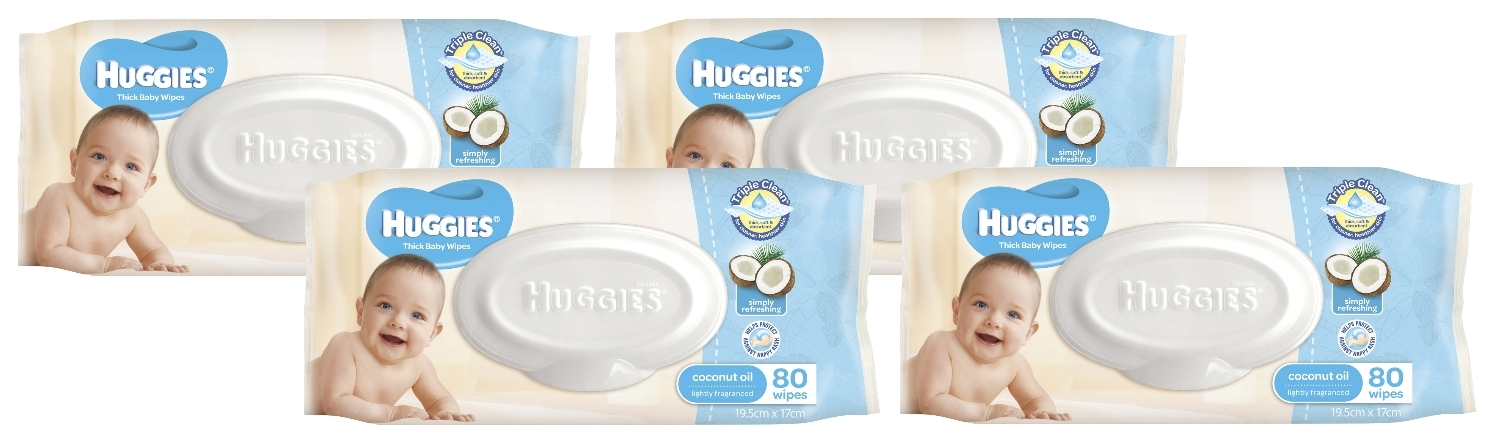 Huggies Baby Wipes Refill Shipper Pack - Coconut (320 Wipes) image