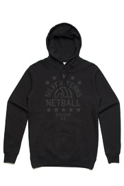 Silver Ferns Stars Black Unisex Hoodie (Small)