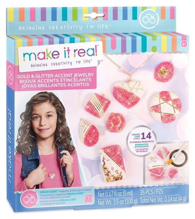 Make It Real: Gold & Glitter Accent Jewellery - Craft Kit