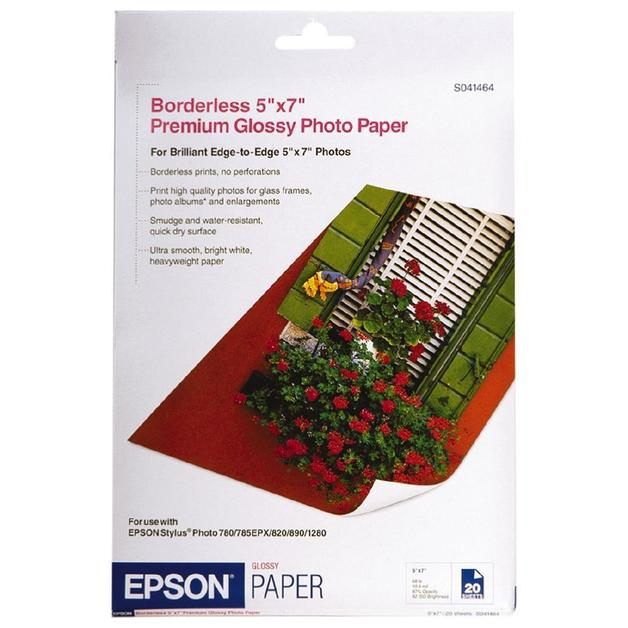 Epson S041464 Premium Glossy Photo Paper - 5x7 255gsm (20 Sheets)