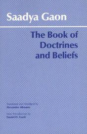 The Book of Doctrines and Beliefs by Saadya Gaon image