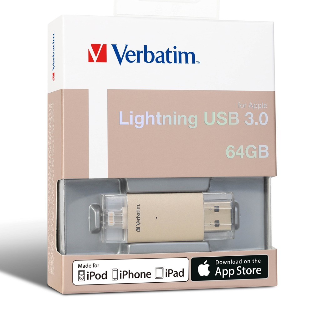 Verbatim Apple Lightning USB 3.0 Drive - 64GB (Gold) image