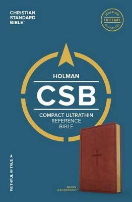 CSB Compact Ultrathin Bible, Brown LeatherTouch by Csb Bibles by Holman