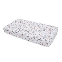 Little Unicorn - Cotton Muslin Cot Sheet - Forest Friends image