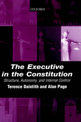 The Executive in the Constitution by Terence Daintith image