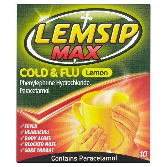 Lemsip Max Sachets - Lemon (10's) image