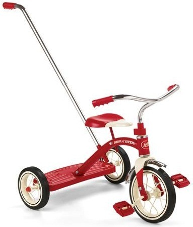 Radio Flyer - Classic Red Trike w/Push Handle