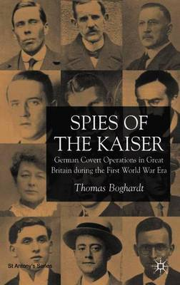 Spies of the Kaiser by Thomas Boghardt image