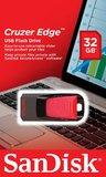 32GB SanDisk Cruzer Edge - USB 2.0 Flash Drive