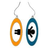 Portal 2 Inter-Spatial Portal Earrings
