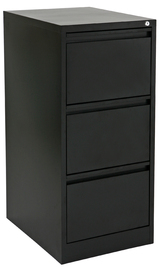 Proceed Lockable Filing Cabinet 3 Drawer - Black