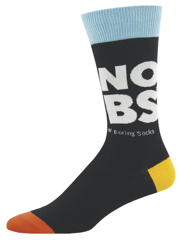 Socksmith: Men's No Boring Socks Crew Socks - Black