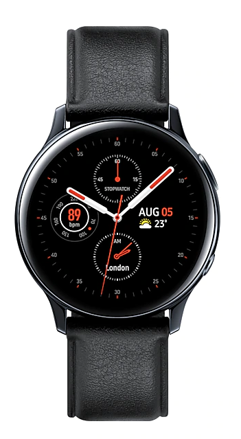 Samsung: Galaxy Watch Active 2 - Stainless Steel/40mm (Black)