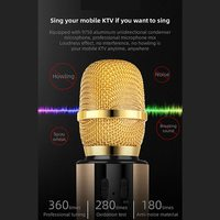 Karaoke Wireless Bluetooth Microphone for Android/iPhone/PC - Pink