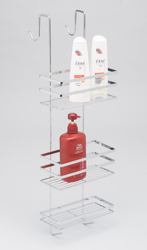 L.T. Williams - Large Chrome Over Door Shower Caddy | at Mighty Ape NZ