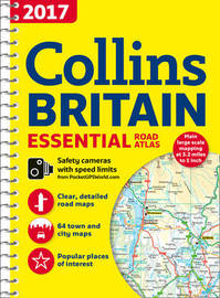 2017 Collins Essential Road Atlas Britain by Collins Maps